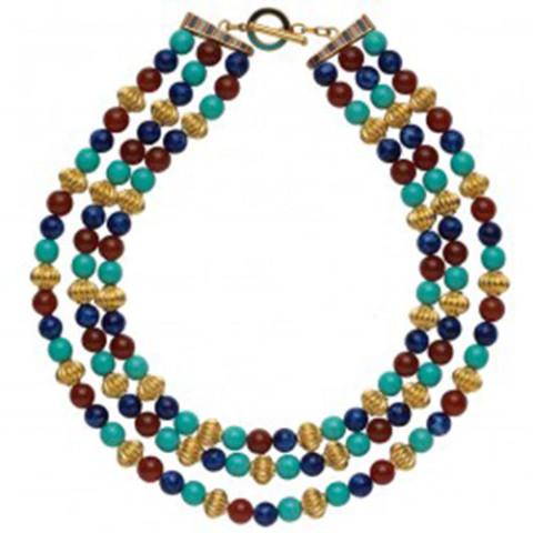 Thutmose III Triple-Strand Bead Necklace