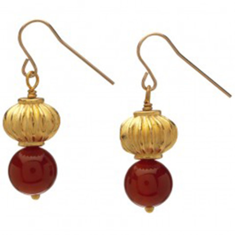 Thutmose III Bead Earrings (carnelian)