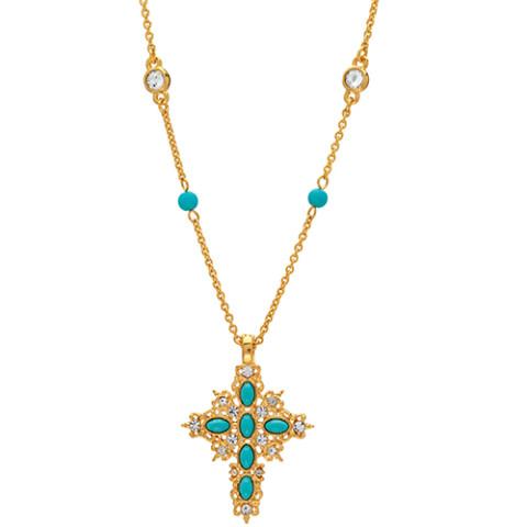 Victorian Turquoise Cross
