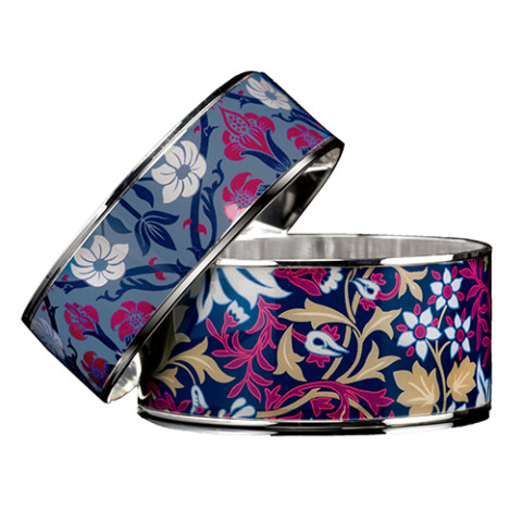 William Morris Botanical Pattern Bangle (wide)
