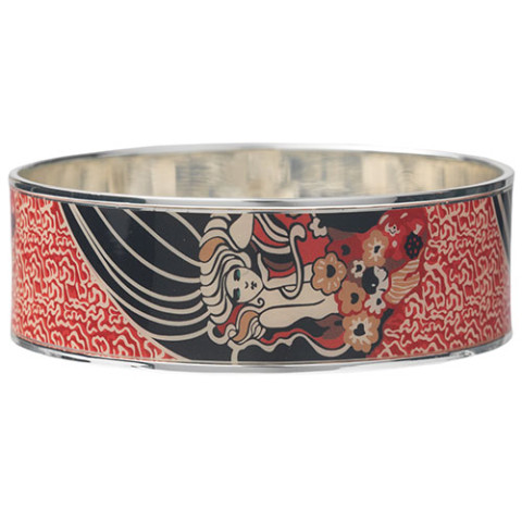 Klimt Textile Pattern Bangle (narrow)