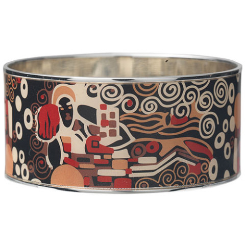 Klimt Textile Pattern Bangle (wide)