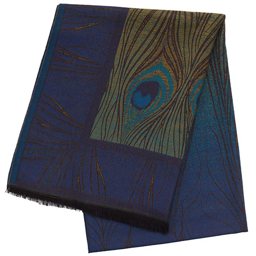 Louis Comfort Tiffany Peacock Feather Throw