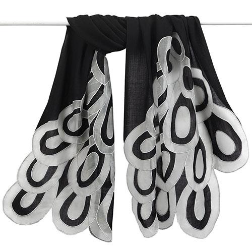 Sonia Delaunay Appliquéd Loops Shawl