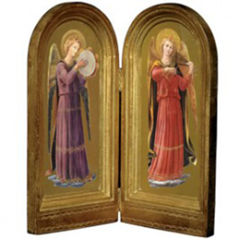 Fra Angelico: Musical Angels Tambourine and Viola