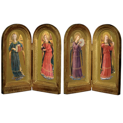 Fra Angelico: Musical Angels Diptych Set