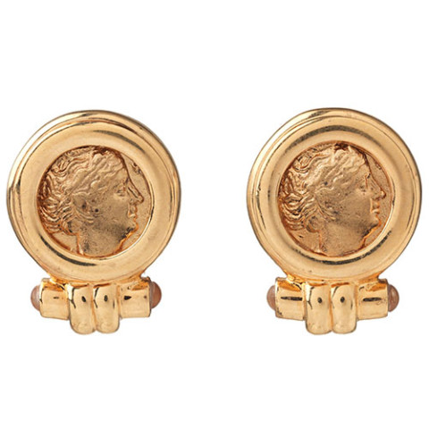 Roman Empress Coin Earrings (post)