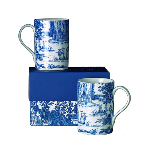 FRENCH TOILE MUGS (SET OF 2)