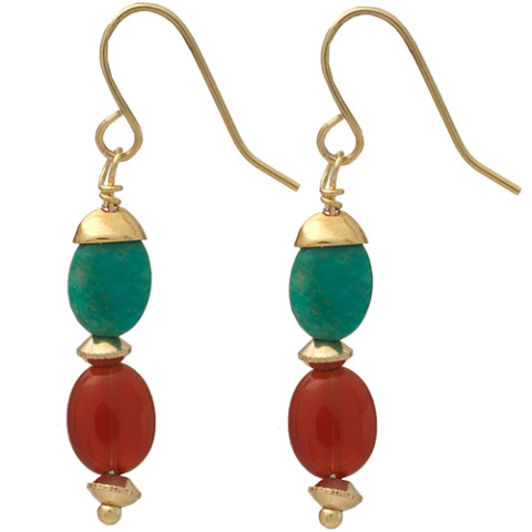 THEBAN BEAD EARRINGS