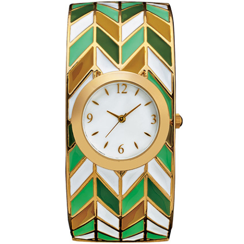 CHEVRON MOTIF BANGLE WATCH 0000
