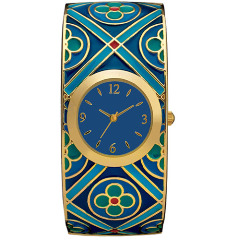 Medieval Quatrefoil Bangle Watch