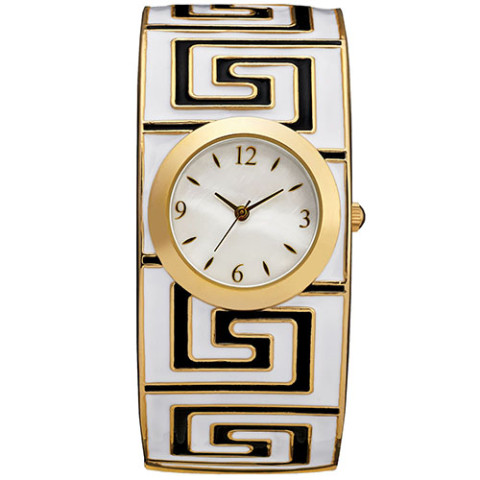 GREEK MEANDER BANGLE WATCH 0000