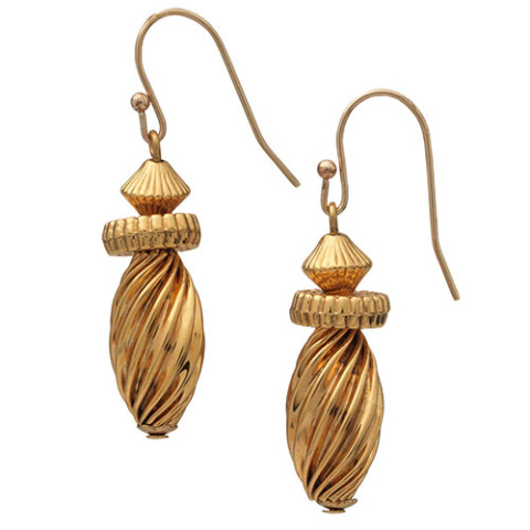 DECCAN FLUTED BEAD EARRING