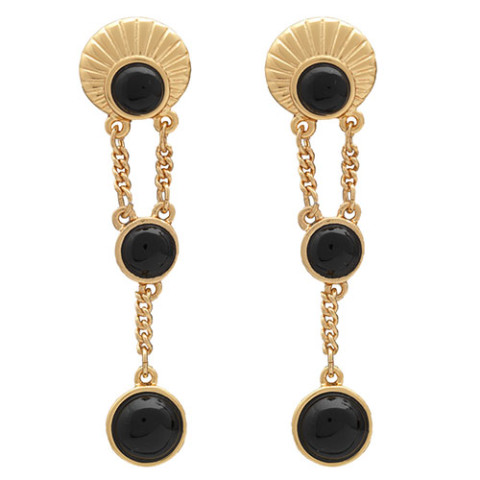 GILDED AGE JEWELED DROP EARRIN 0000