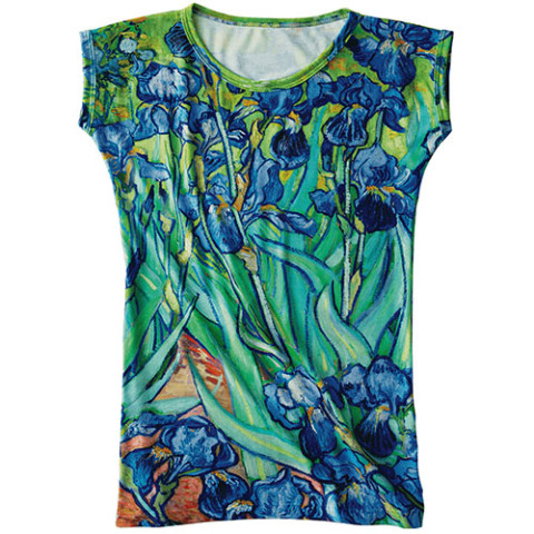 VAN GOGH IRISES SLIM TOP-XL