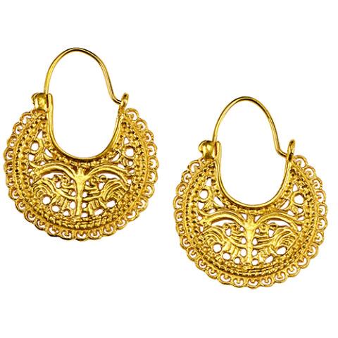 Byzantine Peacock Earring
