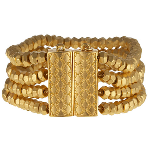 Indian Gold Bead Bracelet