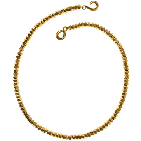 Indian Gold Bead Necklace