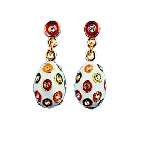 Russian Imperial Spangle Egg Earrings