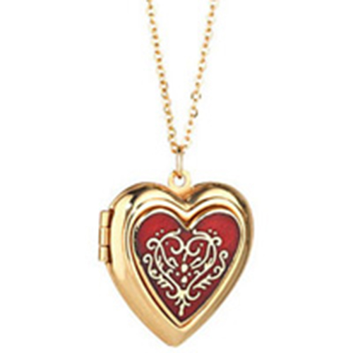 Red Heart Locket On Chain-