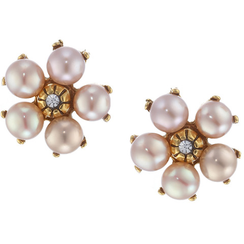 Pearl Flower Earrings W/ Freshwater Pearls