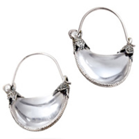 Small Cypriot Rock Crystal Earrings