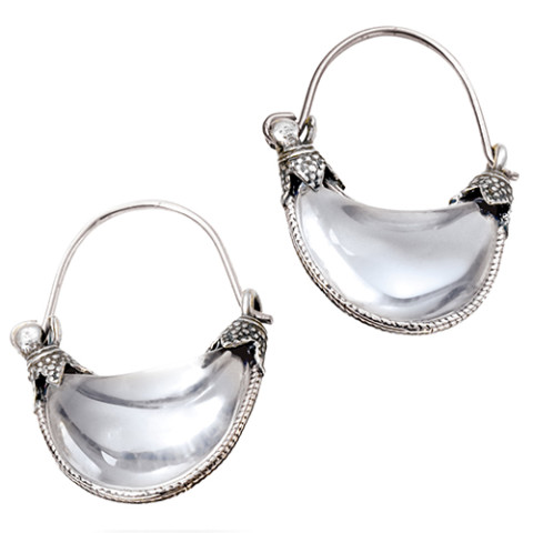 Cypriot Rock Crystal Earrings