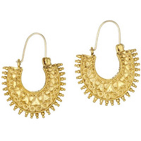 Granulated Crescent Earrings