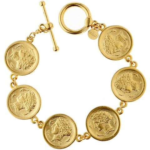 Arethusa Coin Link Bracelet