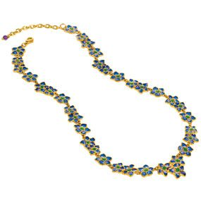 Azure Posy Necklace