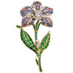 Belle Fleur Jeweled Pin