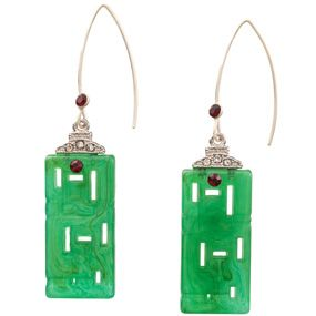 Deco Chinoiserie Drop Earrings
