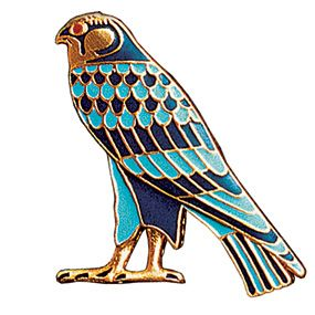 Enameled Horus Pin