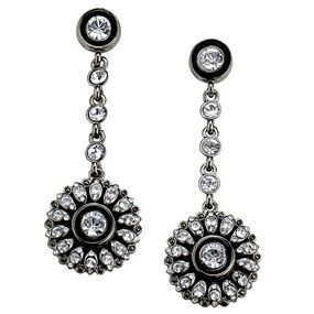 French Neoclassical Button Earrings (drop)