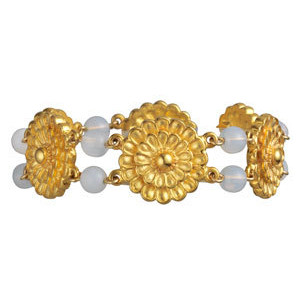 Greek Multi Rosette Bracelet (moonstone)