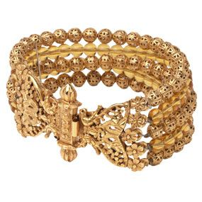 INDIAN GOLDEN BLOSSOM BRACELET