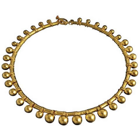 Indian Golden Berry Necklace