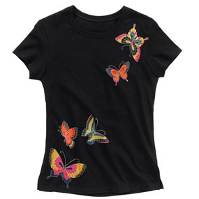 Japanese Obi Butterflies Slim Fit Top