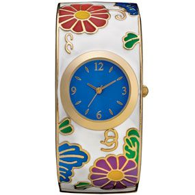 Meiji Blossoms Bangle Watch
