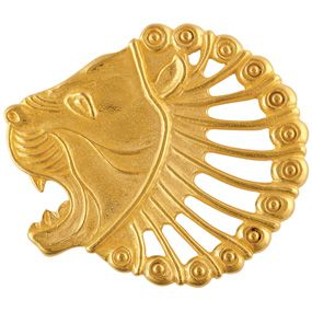 Persian Lion's Head Pin