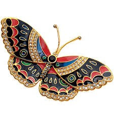 Qing Butterfly Pin (black)