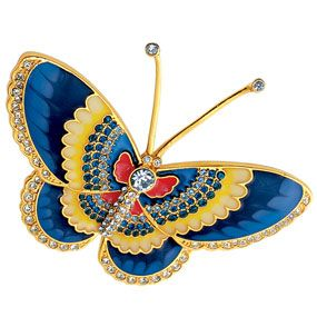 Qing Butterfly Pin (sapphire)