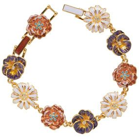 Russian Imperial Wildflowers Bracelet