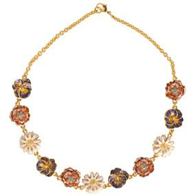 Russian Imperial Wildflowers Necklace