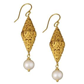 Scrolling Vine Filigree Earrings (linear)