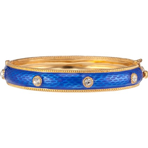 Russian Imperial Jeweled Bracelet Cobalt