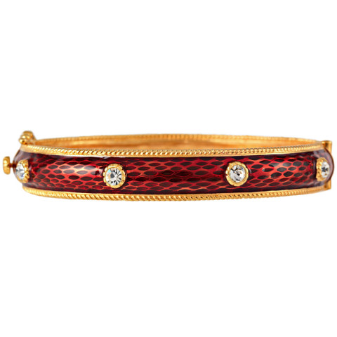Russian Imperial Jeweled Bracelet Red