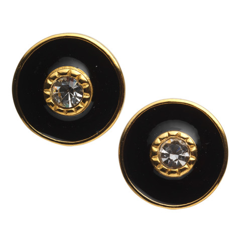 Russian Imperial Jeweled Earrings Black