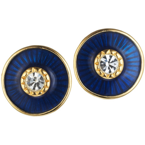 Russian Imperial Jeweled Earrings Cobalt